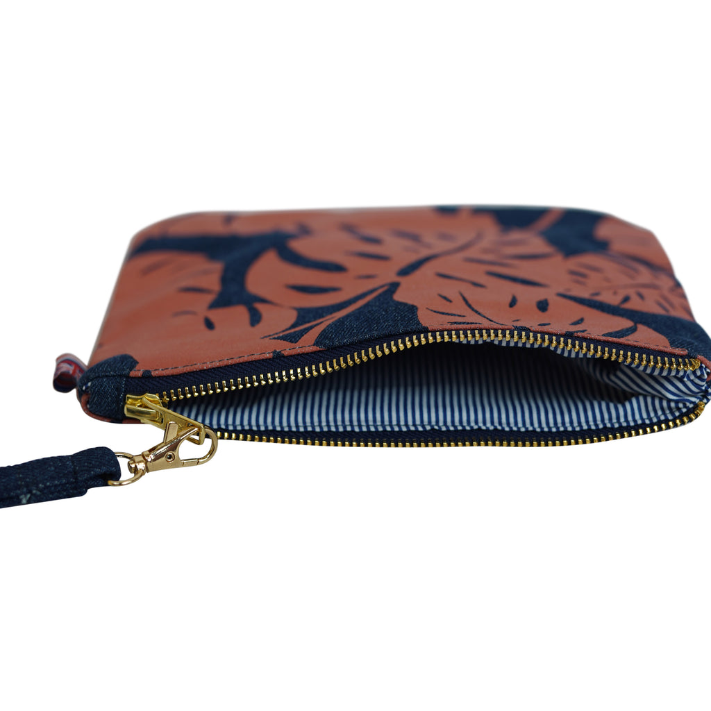 Monstera - Large Clutch - Dark Wash / Tulip