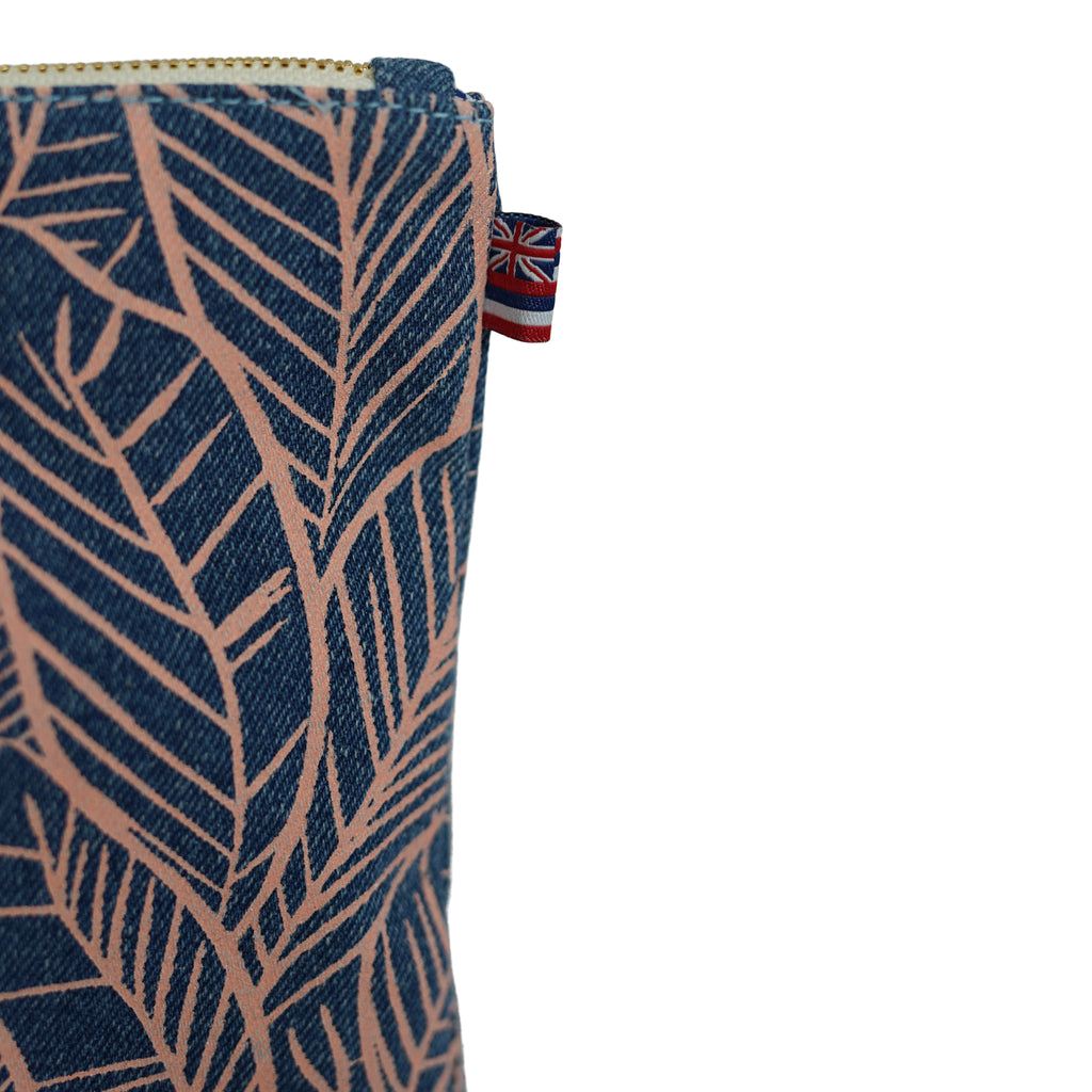 Banana Leaves - Large Clutch - Light Wash / Grapefruit