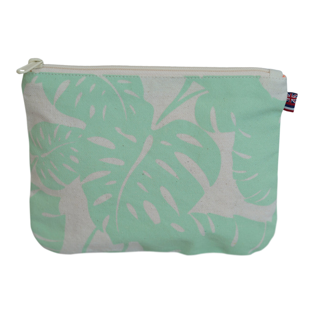 Monstera - Small Clutch - Mint