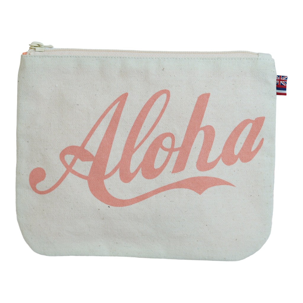 Aloha / 2 Tone Stripe - Small Clutch - Canvas / Grapefruit