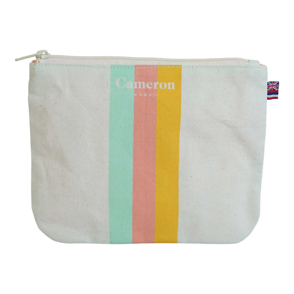 3 Color Stripe - Small Clutch - Mint