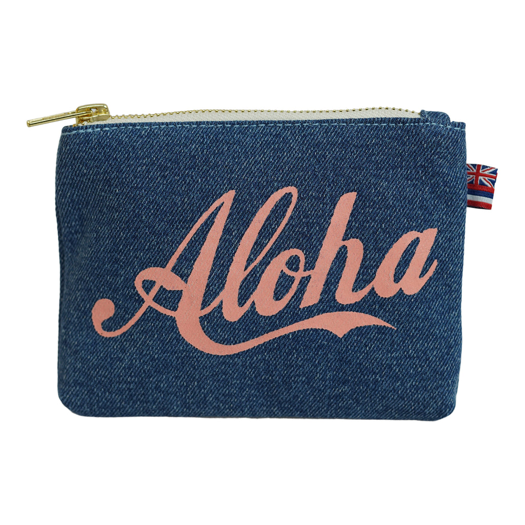 Aloha - Coin Purse - Light Wash / Grapefruit