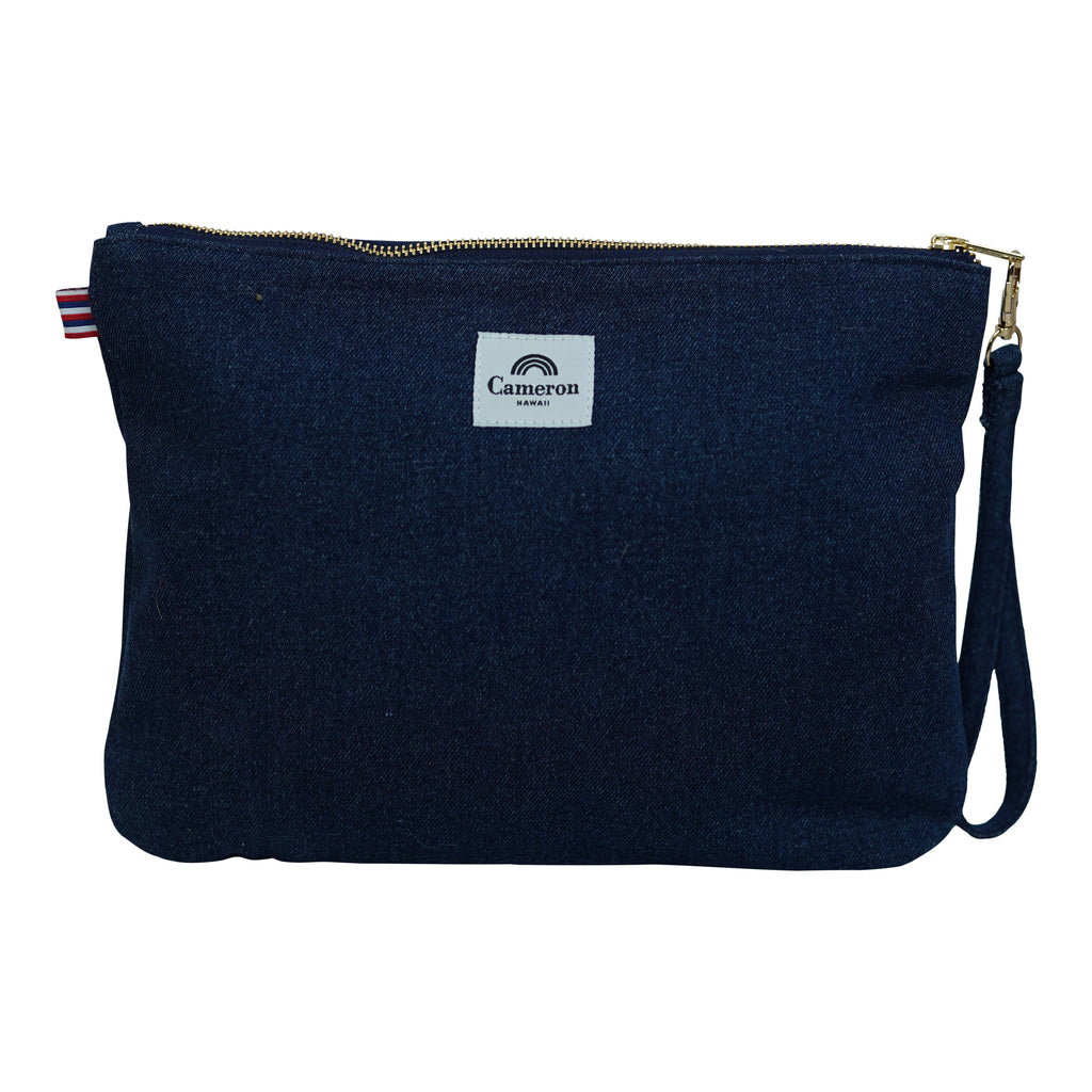 Bows 4 Hawaii - Large Clutch - Dark Wash / Grapefruit