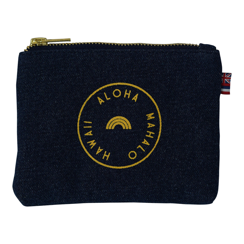 Stamped - Coin Purse - Dark Wash / Lemon