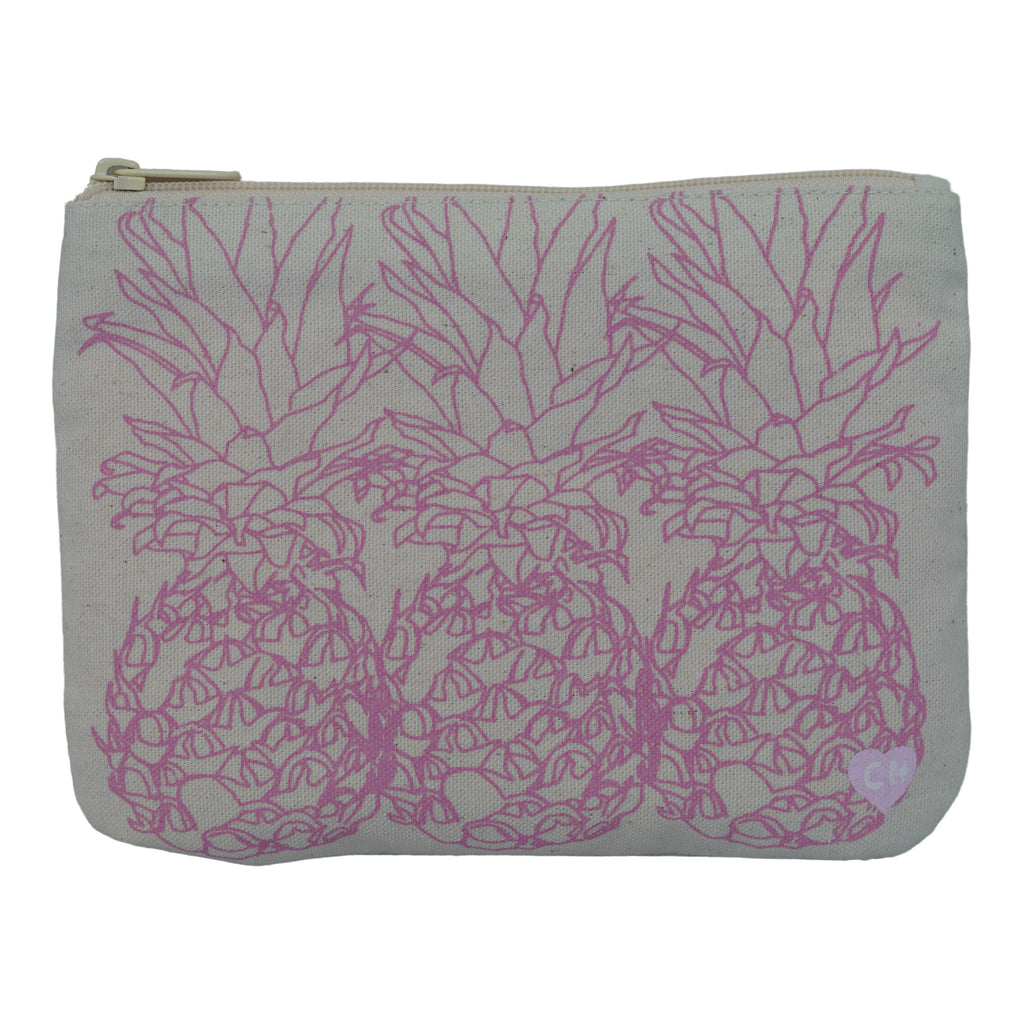 3 Pineapple - Small Clutch - Cameron Pink