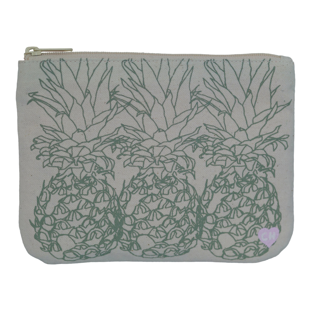 3 Pineapple - Small Clutch - Bay Green