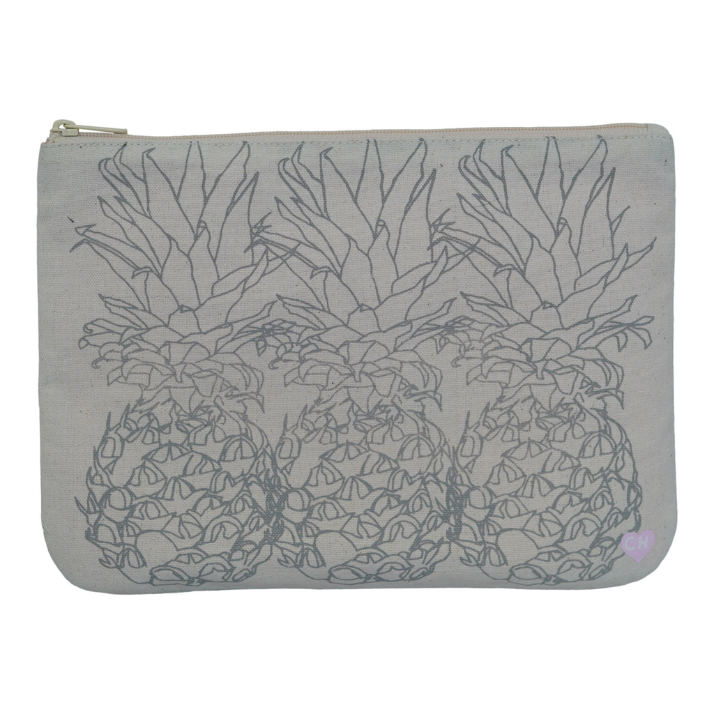 3 Pineapple - Large Clutch - Grey