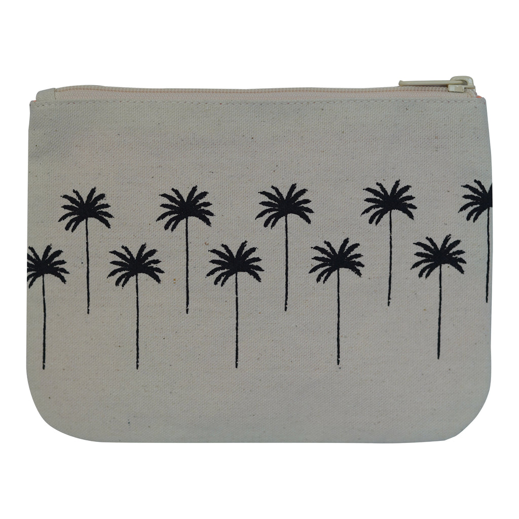 Palm Tree - Small Clutch - Black Sand