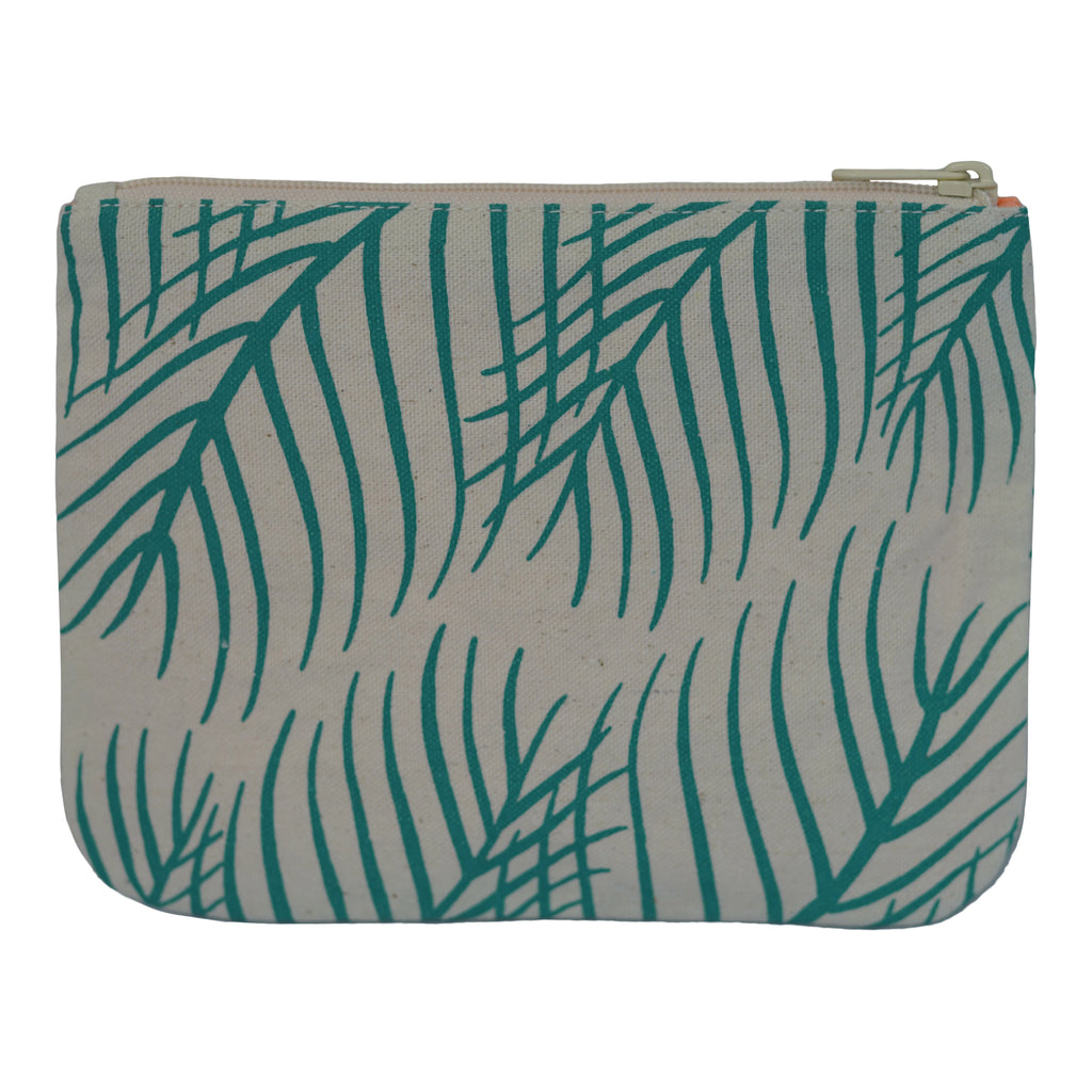 Palm Leaves - Small Clutch - Viridian Green