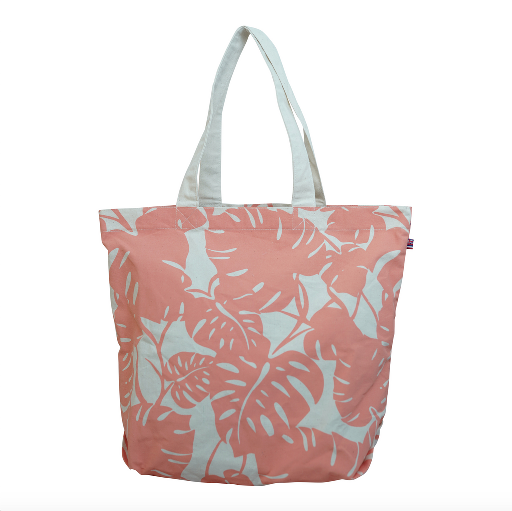 Monstera - Beach Bag - Grapefruit
