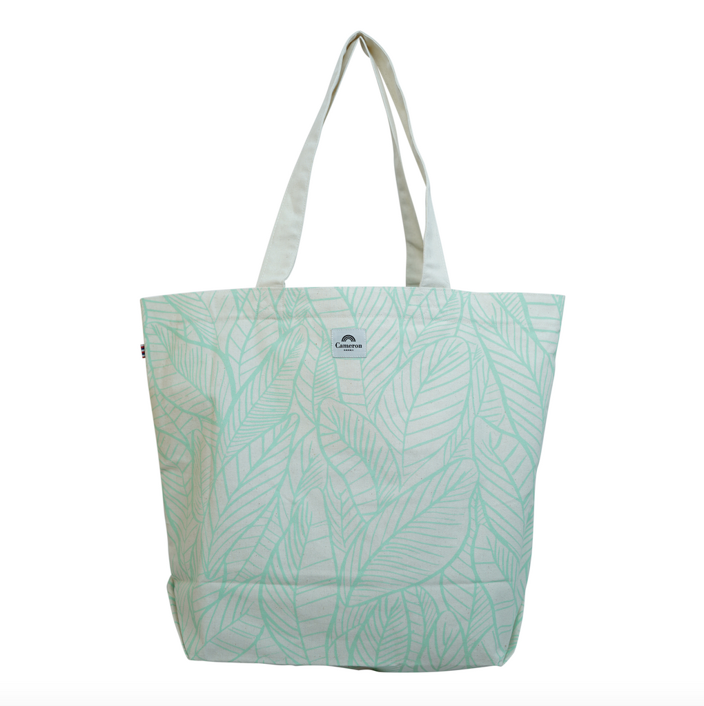 Banana Leaves - Beach Bag - Mint