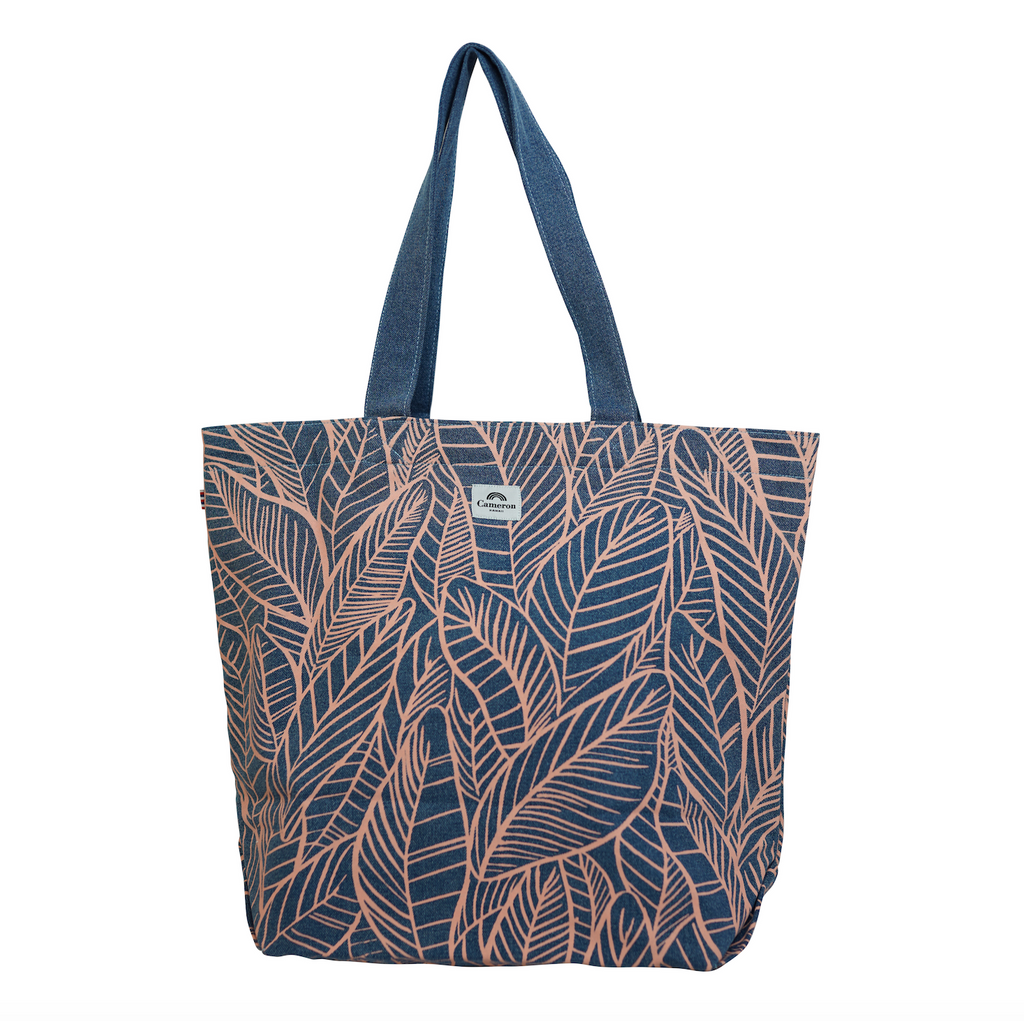 Banana Leaves - Beach Bag - Light Wash / Grapefruit