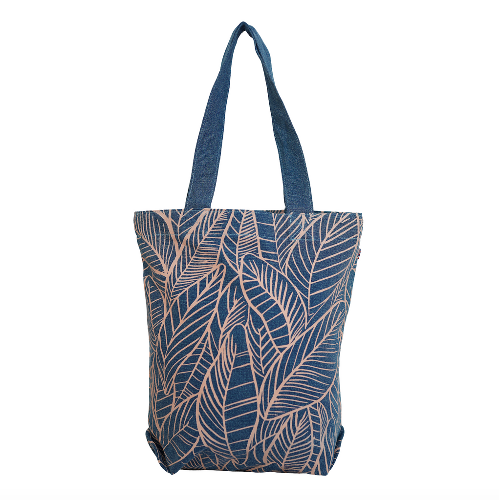 Banana Leaves - Bucket Bag - Light Wash / Grapefruit