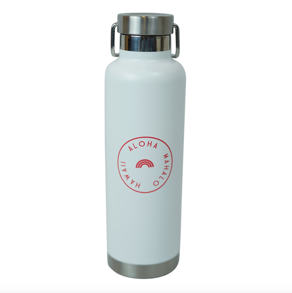 h2go x Cameron Hawaii - 24 oz Stainless Steel Bottle