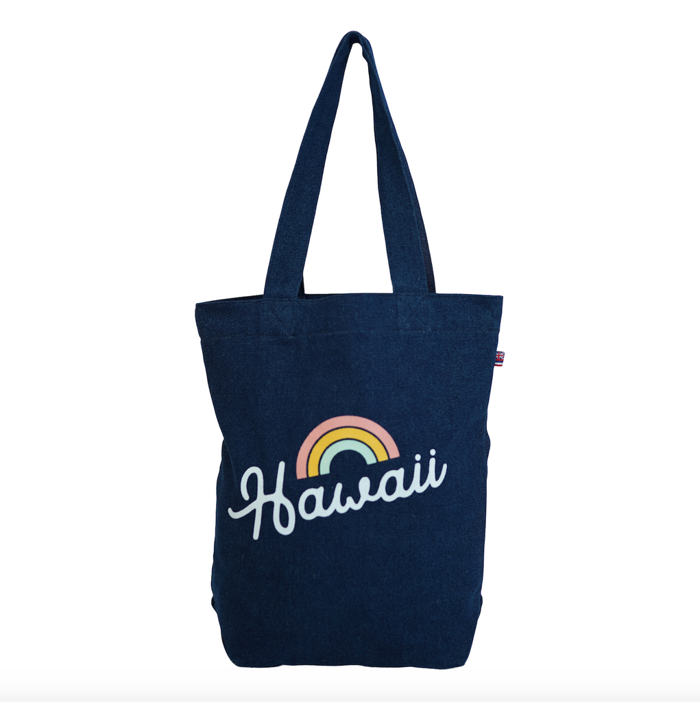Bows 4 Hawaii - Bucket Bag - Dark Wash / Grapefruit