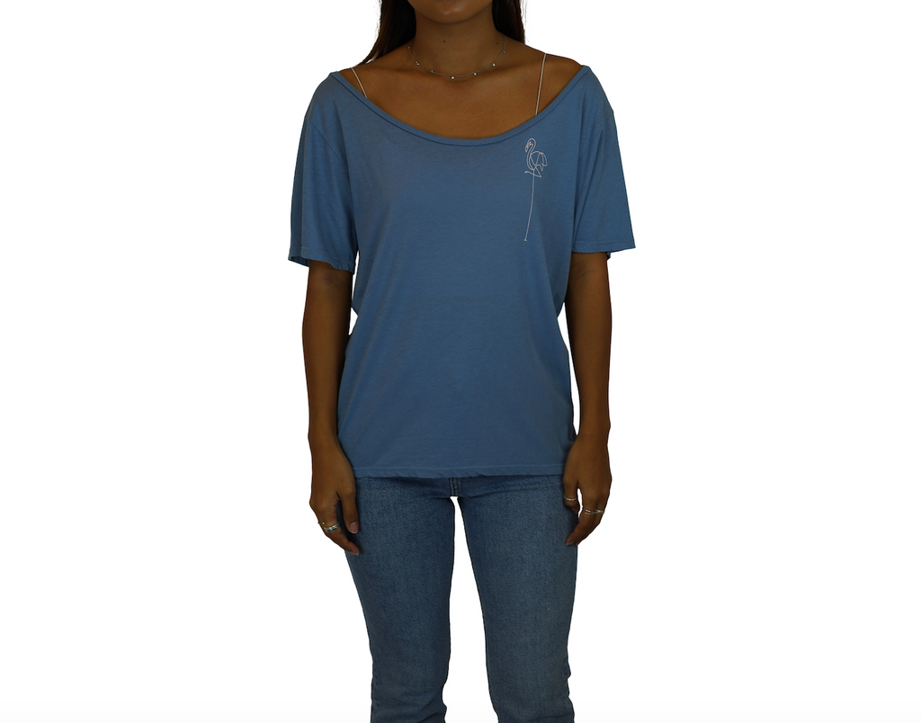 Bird / Barefoot - Flashdance Tee - Light Blue