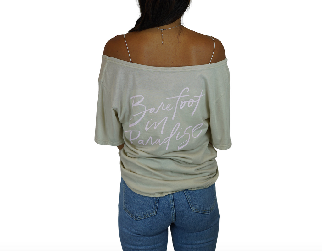 Bird / Barefoot - Flashdance Tee - Silver Cloud
