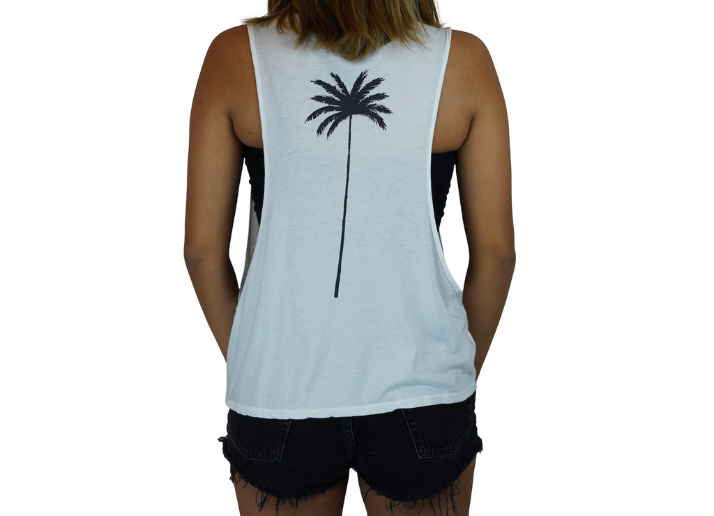 Coconuts / Palm - Muscle Tee - White