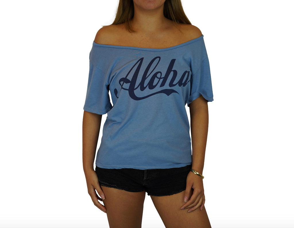 Aloha - Flashdance Tee - Faded Denim