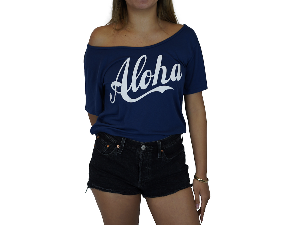 Aloha - Flashdance Tee - Flag Blue
