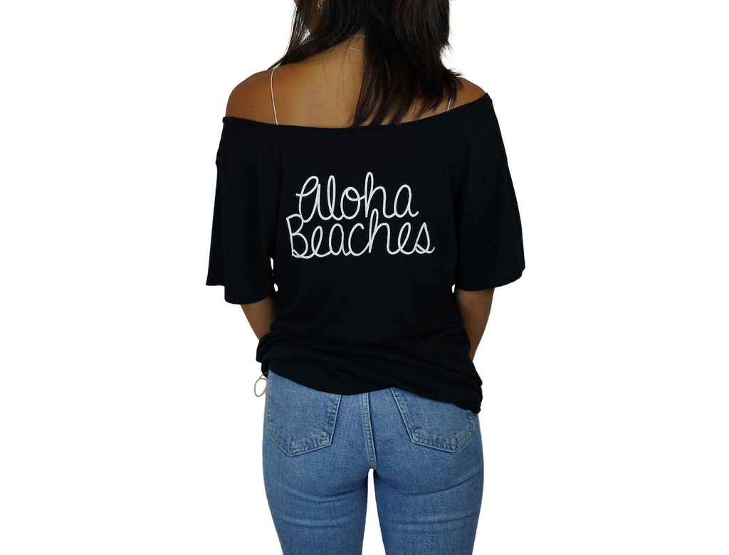 Palm / Aloha Beaches - Flashdance Tee - Black