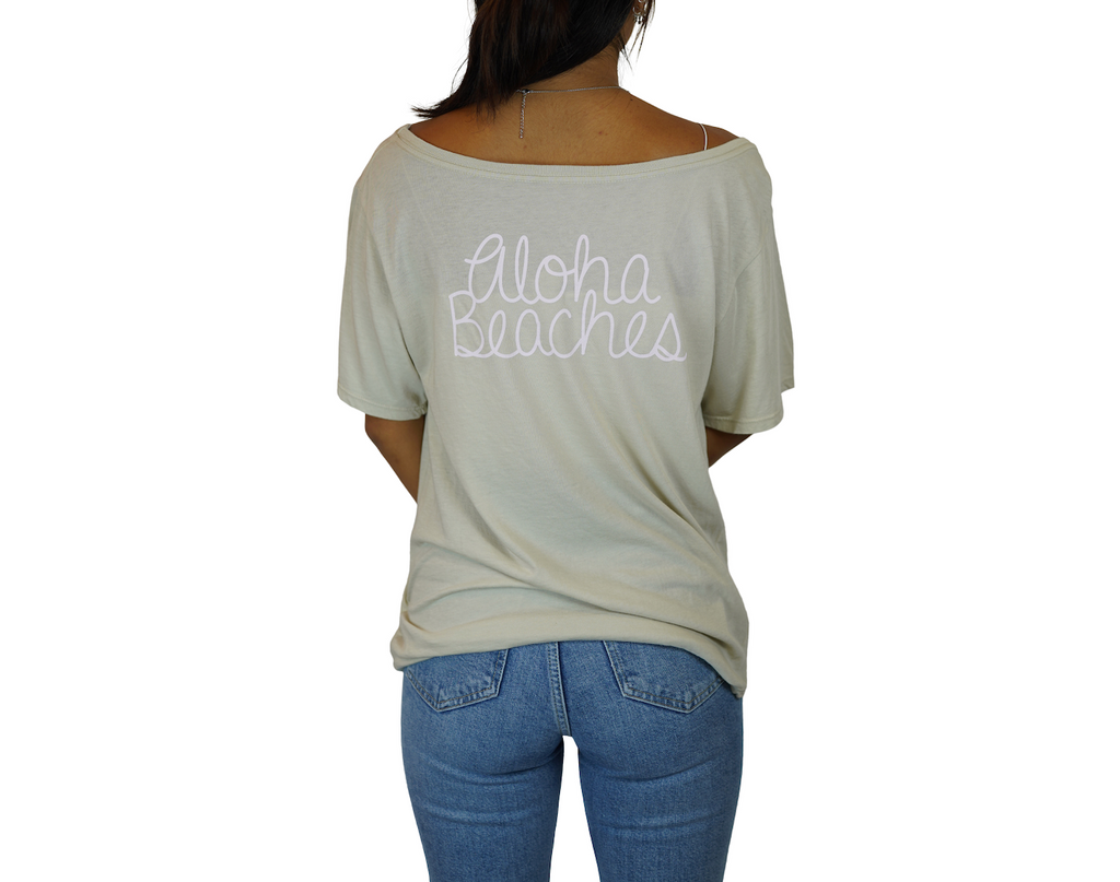 Palm / Aloha Beaches - Flashdance Tee - Silver Cloud
