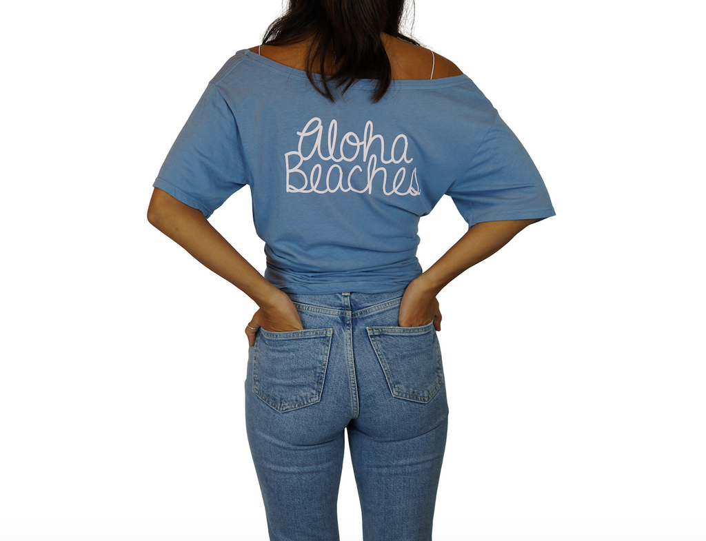 Palm / Aloha Beaches - Flashdance Tee - Faded Denim