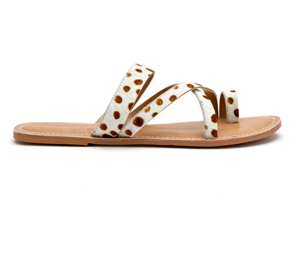 Matisse White & Brown Catalina Sandal