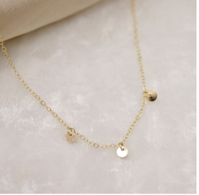Kolohe Ocean Gems - 3 Coin Necklace