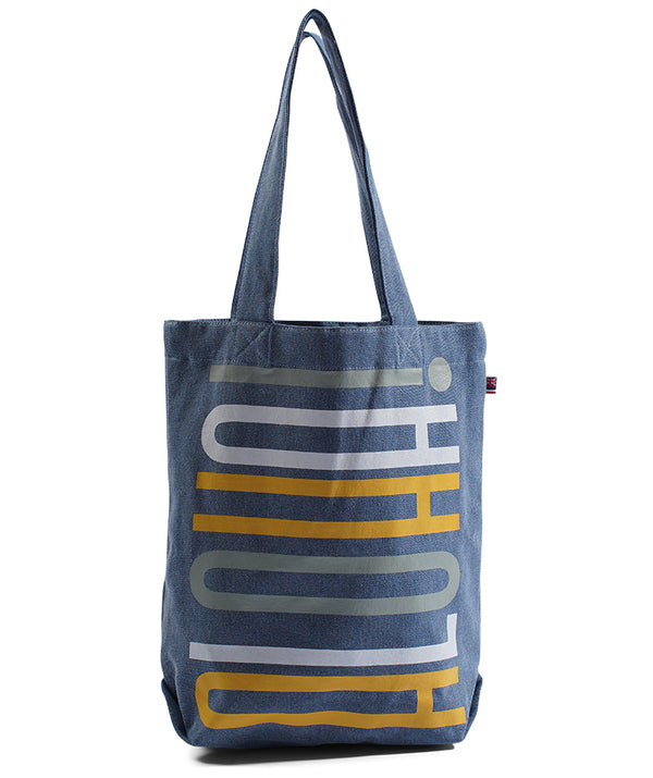 Stacked - Bucket Bag - Light Wash Denim