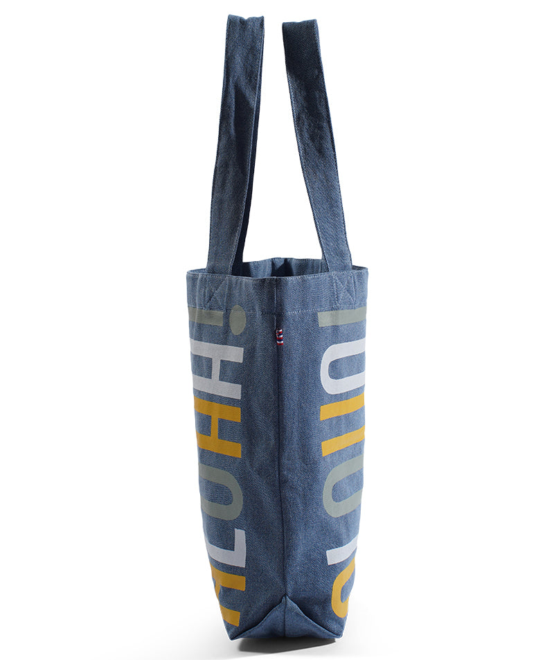 "Bucket Bag ""STACKED"" - Light Wash Denim"