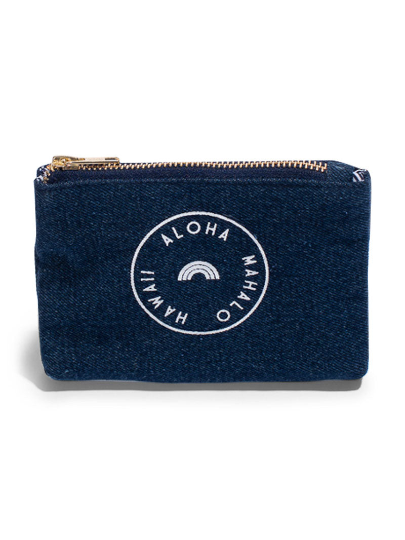 STAMP- Coin Purse- Dark Wash Denim