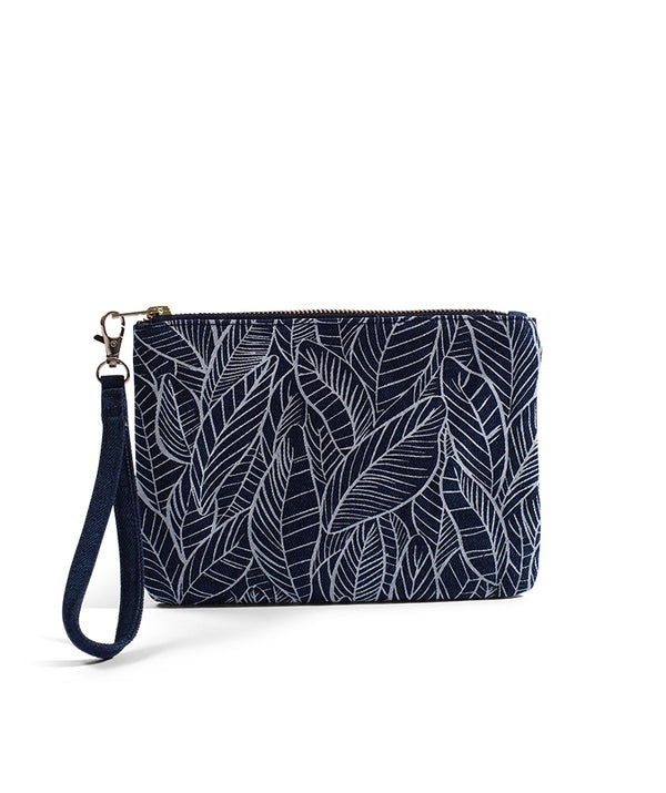 Banana Leaf - Small Clutch - Dark Wash Denim