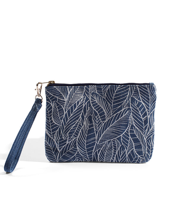 Banana Leaf - Small Clutch - Light Wash Denim