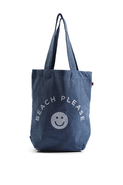 Beach Please - Bucket Bag - Light Wash Denim