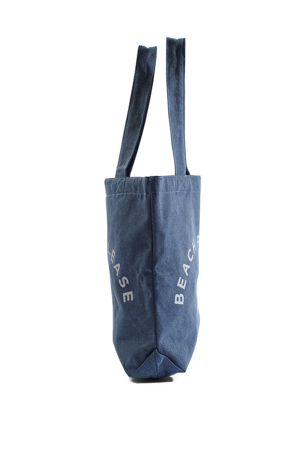 "Bucket Bag ""BEACH PLEASE"" - Light Wash Denim"