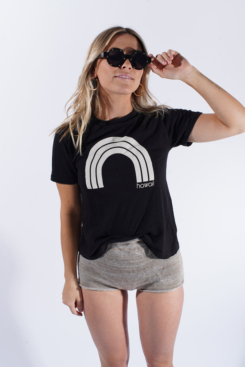 KAWAII HAWAII - Black-Ringer Tee