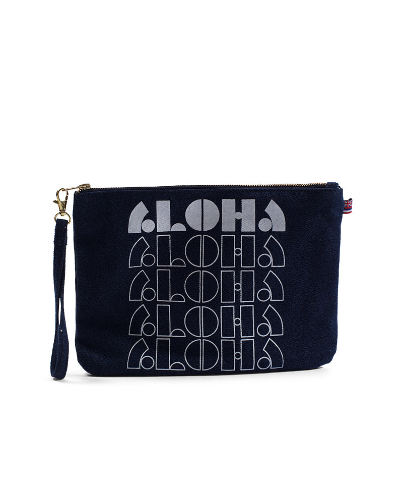 Loco Aloha - Small Clutch - Dark Wash Denim