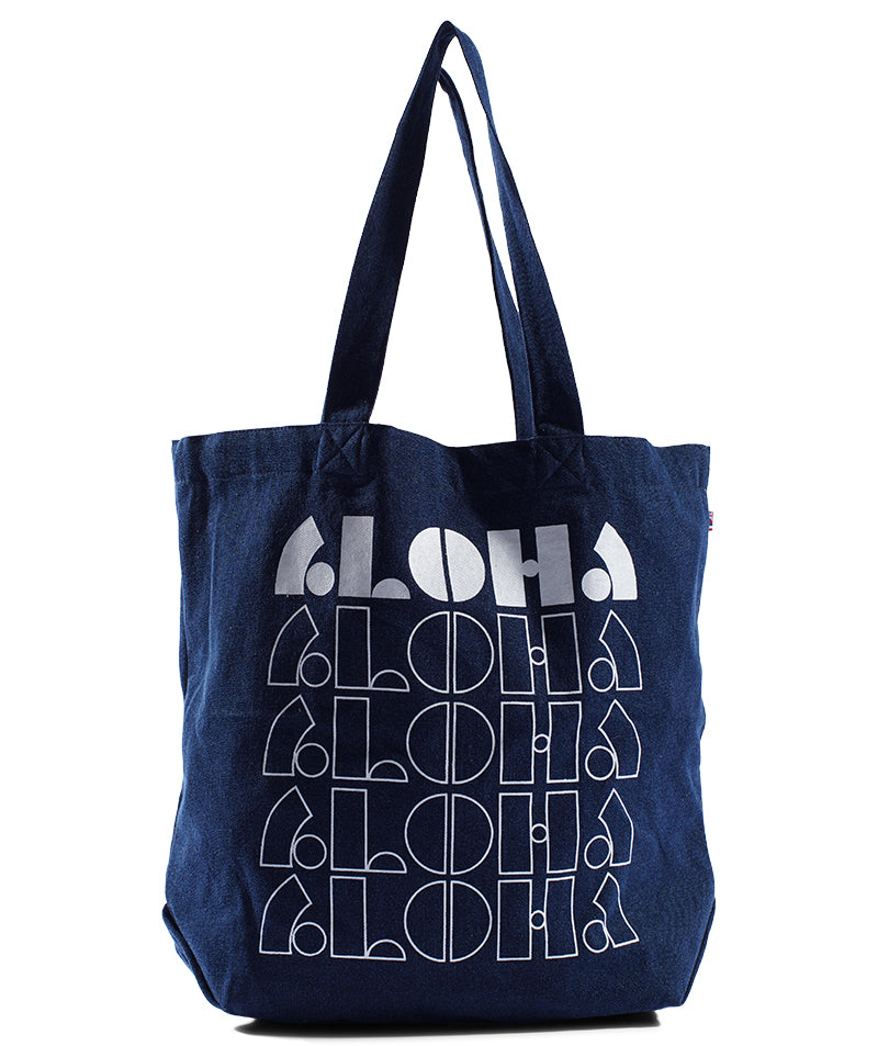 Loco Aloha - Beach Bag - Dark Wash Denim