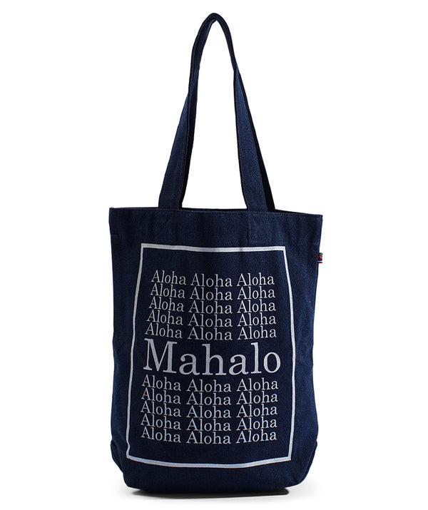 "Bucket Bag ""MAHALO"" - Dark Wash Denim"