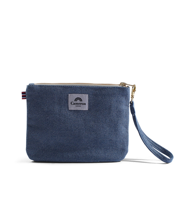 Somebody - Small Clutch- Light Wash Denim
