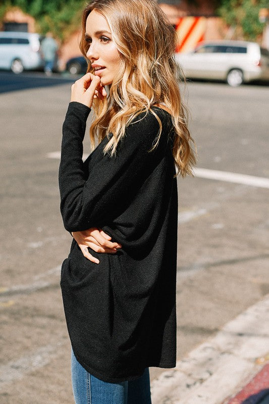 Slouchy Hi Low Tunic Sweater