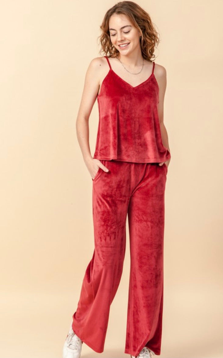 Treat Yourself Velour Loungewear Set