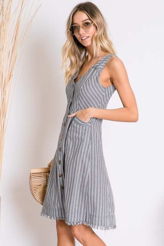 Fringe Benefits Dress with Pockets!
