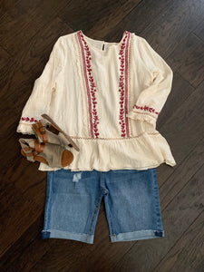 Bohemian Embroidered Top