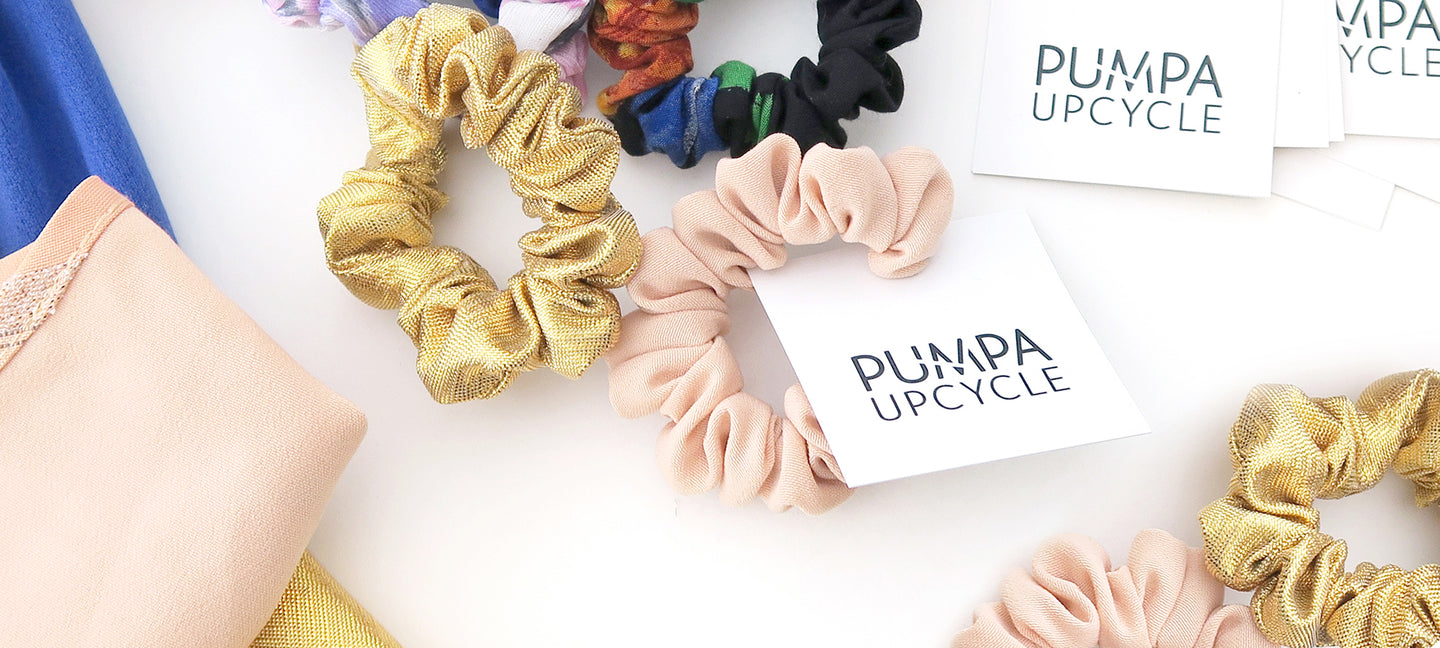 Hiusdonitsi scrunchie Pumpa Upcycle