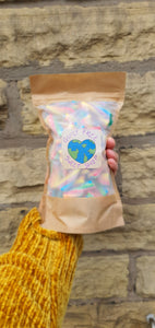 Sour Rainbow Twists vegan chewy twisty sour rainbow colour pick and mix sweet bag.