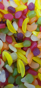 Vegan & GF/Gluten Free Funky Fruits Mix pick & mix type sweets in 400g or 750g size bags.