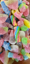 Load image into Gallery viewer, 750g Vegan Fizzy & Sour pick & mix sweet bags, recyclable compostable packaging.