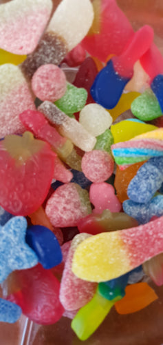 Vegan pick & mix: Fizzy, Sour & non-fizzy pick and mix sweets, all vegan.